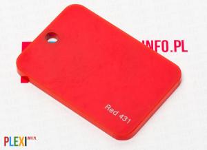 PLEXI Czerwone 431 PLEKSI PMMA