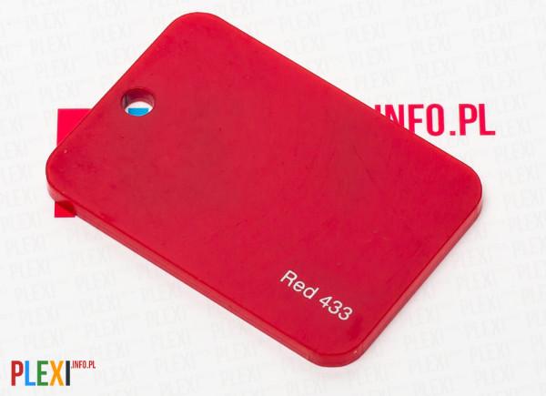 PLEXI Czerwone 433 PLEKSI PMMA