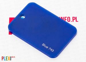 PLEXI Niebieskie 743 PLEKSI PMMA
