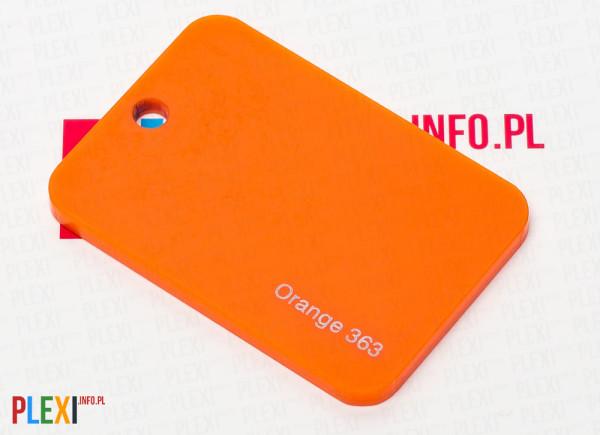 PLEXI Pomarańczowe 363 PLEKSI PMMA
