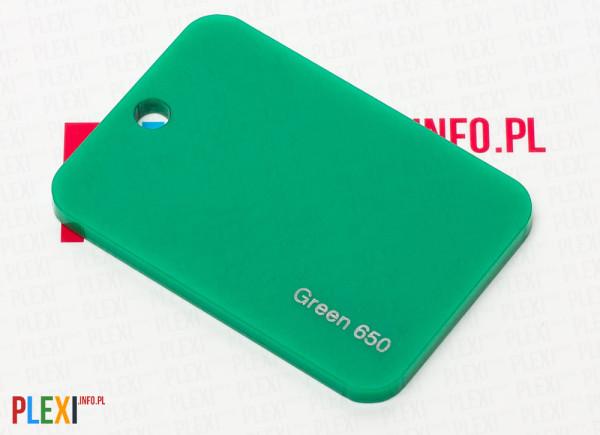 PLEXI Zielone 650 PLEKSI PMMA