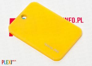 PLEXI Żółte 260 PLEKSI PMMA