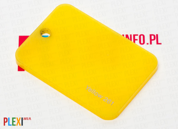 PLEXI Żółte 261 PLEKSI PMMA